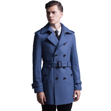 Autumn Winter Coat Men 2017 New Arrival Casual Fashion Long wool Trench Coat Male Solid Colors Slim Handsome Jacket Plus Size