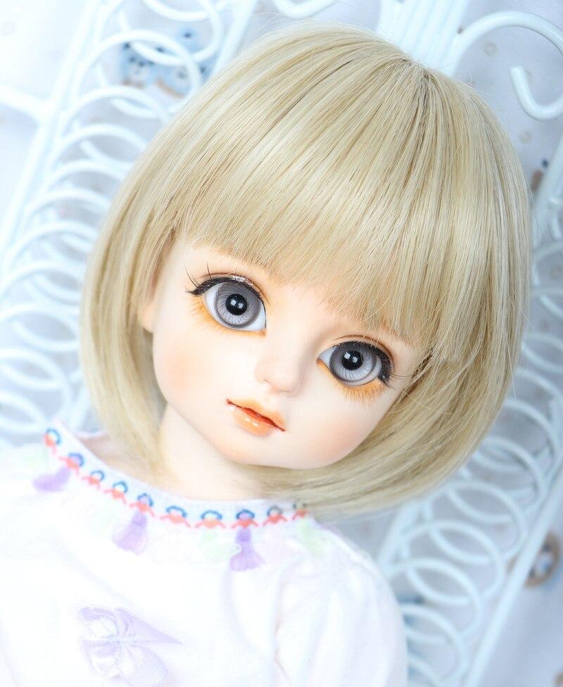 1/3 1/4 BJD Wig Pullip Dal DD SD Dollfie Doll Wig 7-8 8-9 Inch Short Blonde Wig 613c