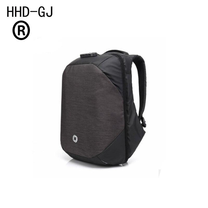 HHD-GJ Anti-Theft Men's Backpacks Bolsa Mochila for Laptop 14Inch 15 Inch 16 Inch Notebook Computer Bags Men Backpack School
