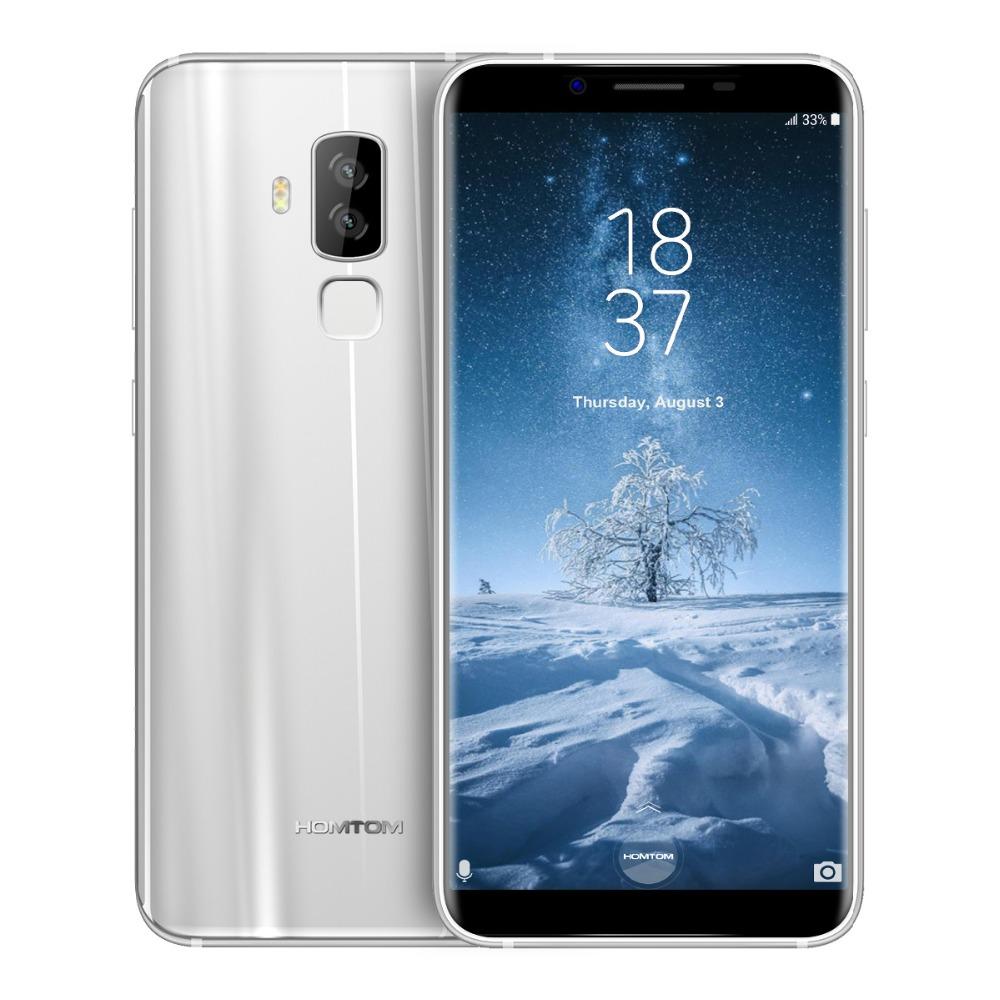 """homtom s8 handy dual rückfahrkamera 16mp + 5mp 5,7 """"hd + 18:9  seitenverhältnis 4 gb + 64 gb mtk6750t octa core fingerabdruck 4g  smartphone in homtom"""