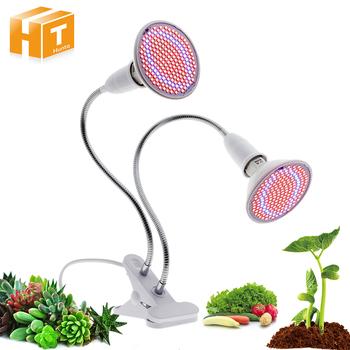 Oświetlenie LED do uprawy z 360 stopni elastyczna lampa uchwyt klip lampa LED do hodowli roślin dla roślin wewnętrznych lub stacjonarnych tanie i dobre opinie Hunta CN (pochodzenie) ROHS Grow Light Żarówki led 85-265 v 5 4inch