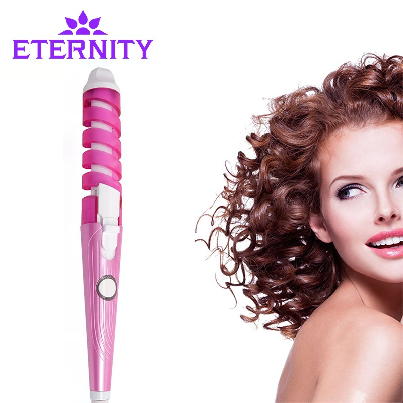 Electric Magic Hair Styling Tool Rizador Hair Curler Roller Monofunctional Spiral Curling Iron Wand Curl Styler NHC-8558 multifunctional styling electric 110 240v 5 in 1 styling set hair straighten hair curling iron hair curler roller comb