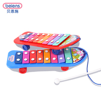 Beiens Kids 8 Note Plastic Musical Toys Skateboarding Knock Piano Early Educational Development Music Instrument Baby