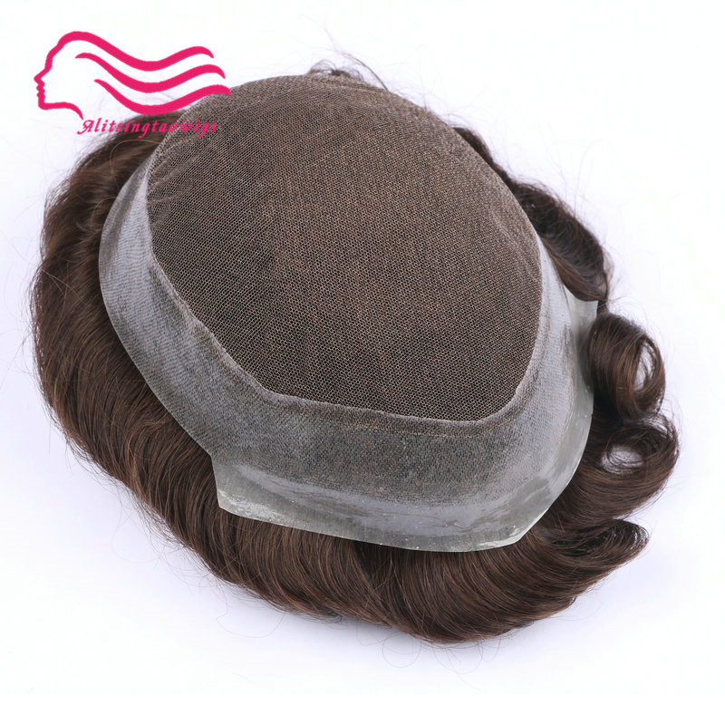 100% Menschliches Remy Haar Männer Toupet, Australien Marke, Französisch Spitze Mit Haut Um. Haar Ersatz, Haar Männer Toupet Auf Lager So Effektiv Wie Eine Fee