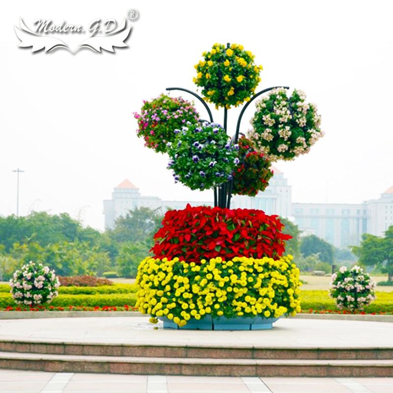 Vaso plantador design produtos de armação de aço jardim vertical e plantador ao ar livre para árvore de flor
