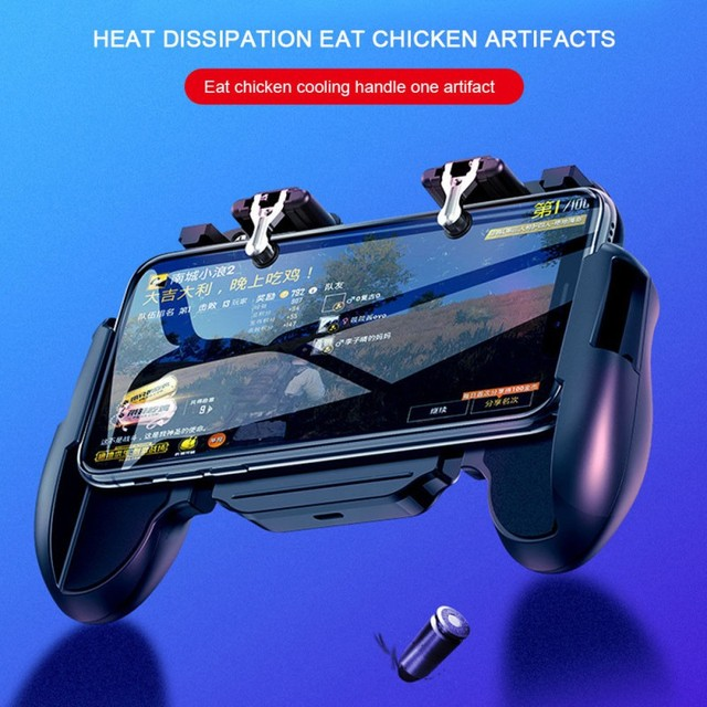 H5 Phone Cooling Fan Game Gamepad Controller Fire Hand Grip for iPhone Xiaomi SamSung Phone Game Cooler