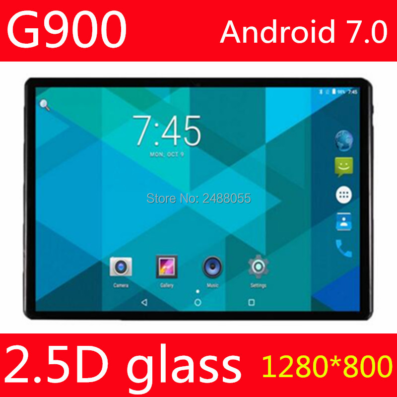 2.5D Glass Screen Android 7.0 OS 10 inch tablet pc Octa Core 4GB RAM 32GB ROM 3G 4G FDD LTE 1280*800 IPS Tablets 10.1 Gift cige tablet 10 1 inch octa core 4gb ram 32gb rom android 6 0 tablet pc 32gb 1280 800 ips dual cameras 3g 4g lte tablets gifts