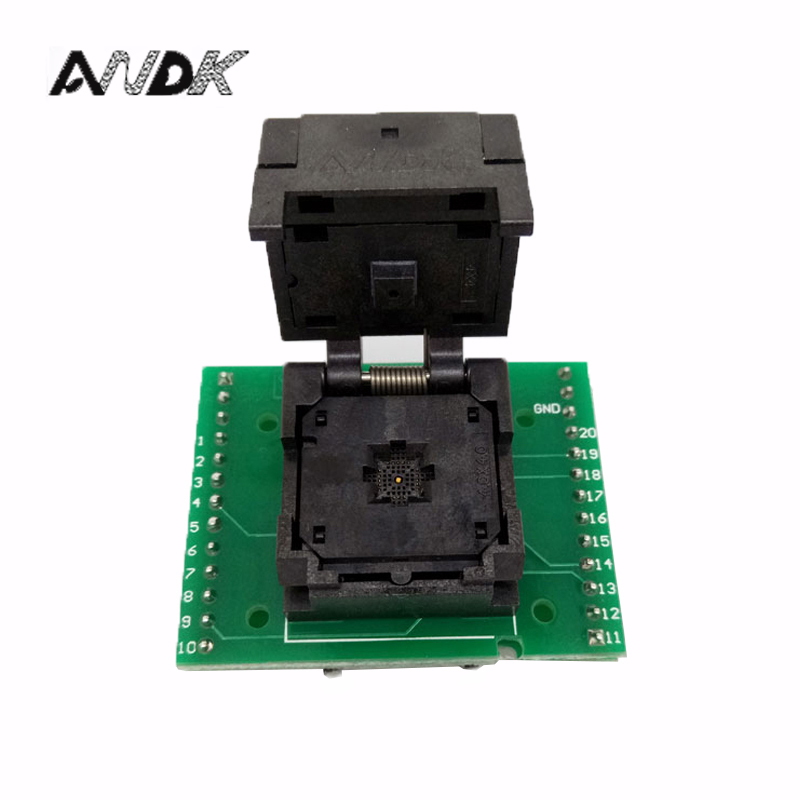 QFN20 MLF20 WLCSP20 to DIP20 Double-Board Programming Socket Adapter Pitch 0.5mm IC Body Size 4x4mm IC550-0204-009-G Test Socket qfn64 mlf64 burn in socket ic test socket ic550 0644 006 g pitch 0 5mm chip size 9 9 flash adapter clamshell programming socket