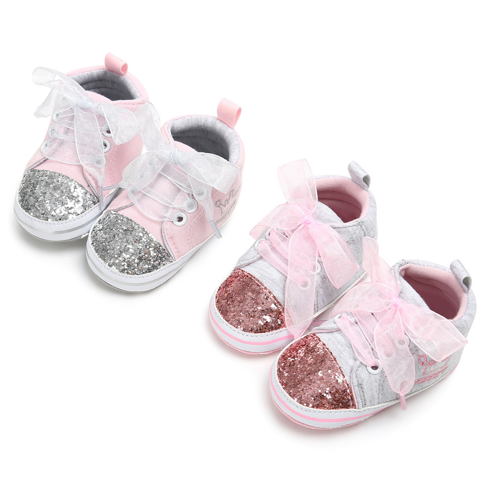 f9812a3e3 Baby Shoes Girl Bandage Shoes Sequins Fashion Toddler Pink Sneaker Kid  Shoes casual shoes for Girls