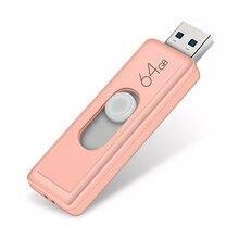 Super Speed USB 3.0 128GB USB Flash Drive Push E Pull Pendrive 3.0 64GB Pen Drive 32GB reale Capacità di U Bastone Dropship