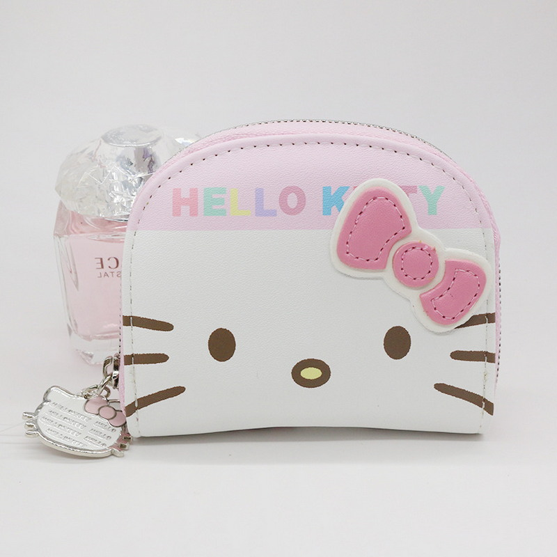 Free shipping character business card holder women zipper wallet free shipping character business card holder women zipper wallet high quality pu white and pink hello kitty credit card wallet in card id holders from colourmoves
