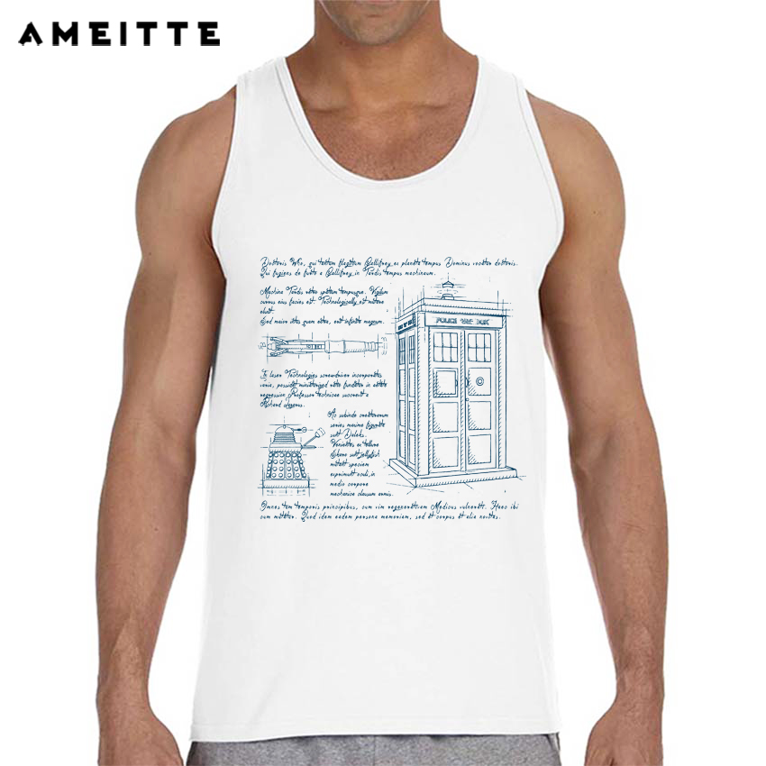 Dr Who 9 Tardis and Friends Mens Vest