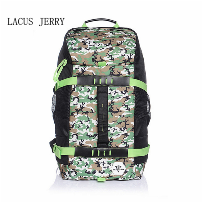 LACUS JERRY 2017 New Men High Quality Fashion Backpack Male Multi-purpose Travel Bags Large Capacity Oxford Cloth Laptop Bag стоимость