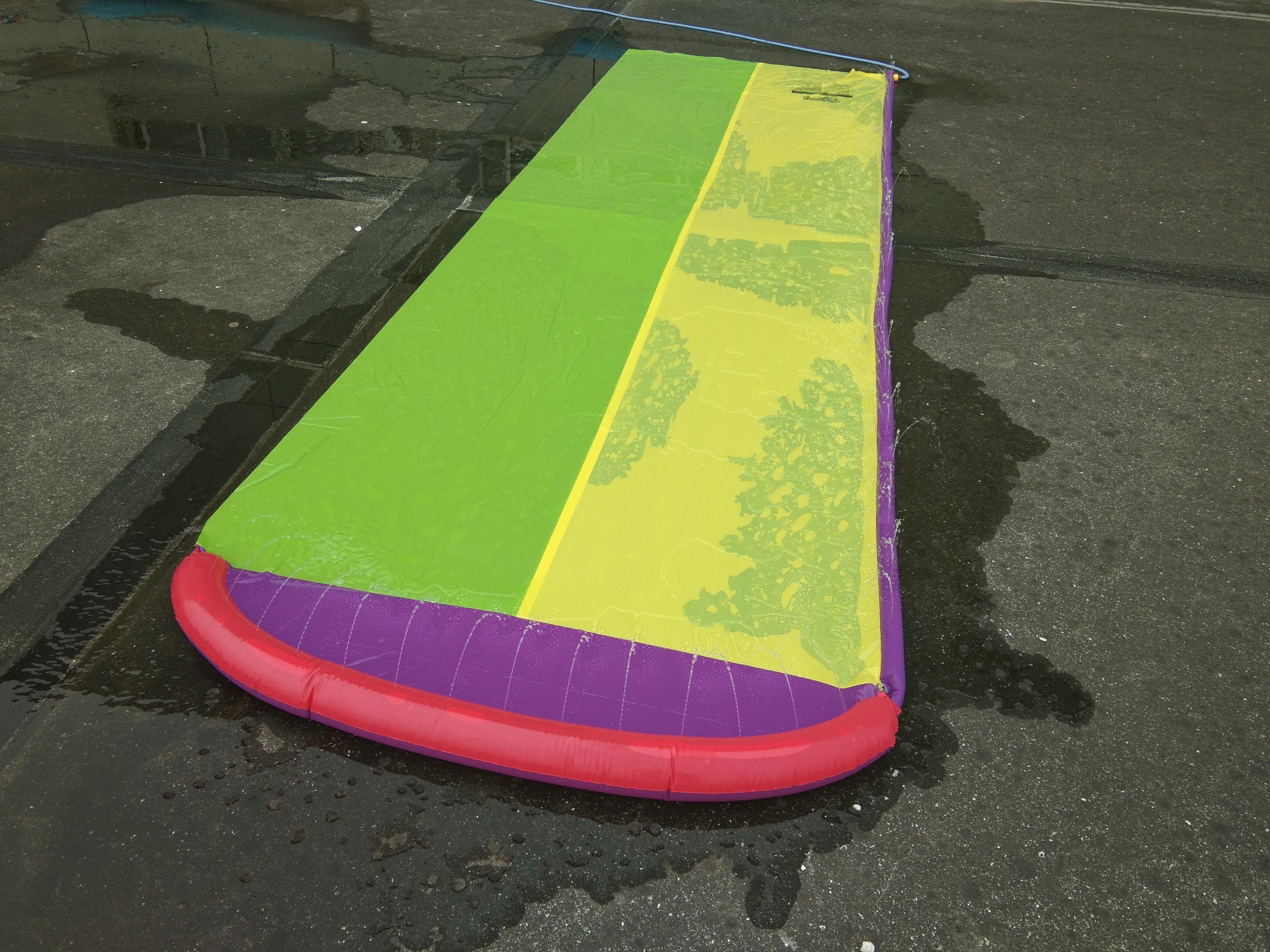 4.8 m géant Surf 'N Double toboggan aquatique pelouse toboggans pour enfants piscine d'été enfants jeux amusants jouets cour extérieure vague cavalier - 6
