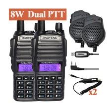 2 pcs BaoFeng UV-82 8W Dual Band Walky Talky UV-82HX Ham Radio receiver Communicator UV 5R GT-3TP Portable Walkie Talkie Set