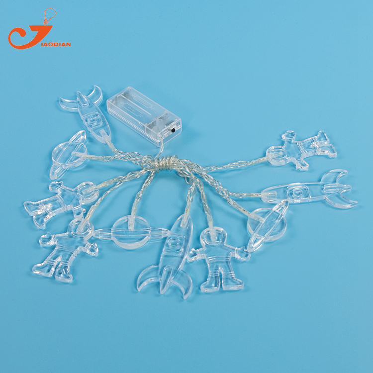 Event & Party Festive & Party Supplies Toy String Lights Spaceman Rocket Universal 10 Led Lights Children Decorative Kids Bedroom Decoration Battery
