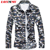 LONMMY 5XL 6XL 7XL Camouflage Shirts Men Dress Camisa Social Mens Shirts Casual Slim Fashion Military