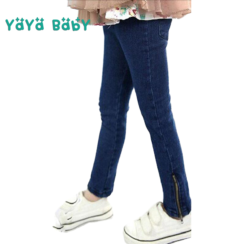 Skinny Jeans For Girls  New Deep Blue Girls Pants High Quality Summer Autumn Kids Jeans Toddlers Teens Children Trousers