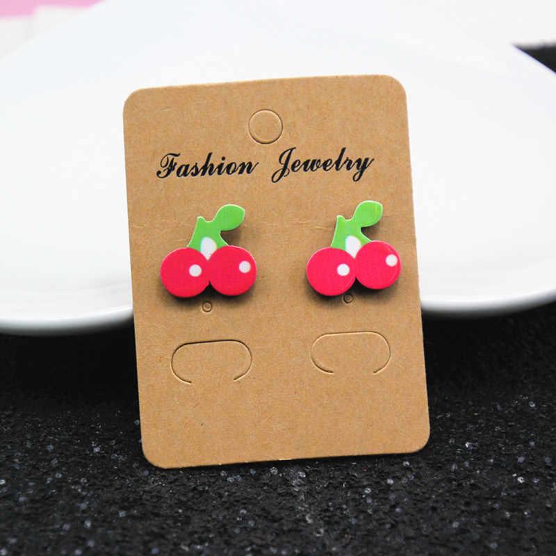 Gaya Korea Anting-Anting Anting-Anting Fashion Perhiasan Lucu Kartun Mawar Semangka Cherry Anting-Anting Wanita dan Gadis Seni Kreatif Tanaman Buah