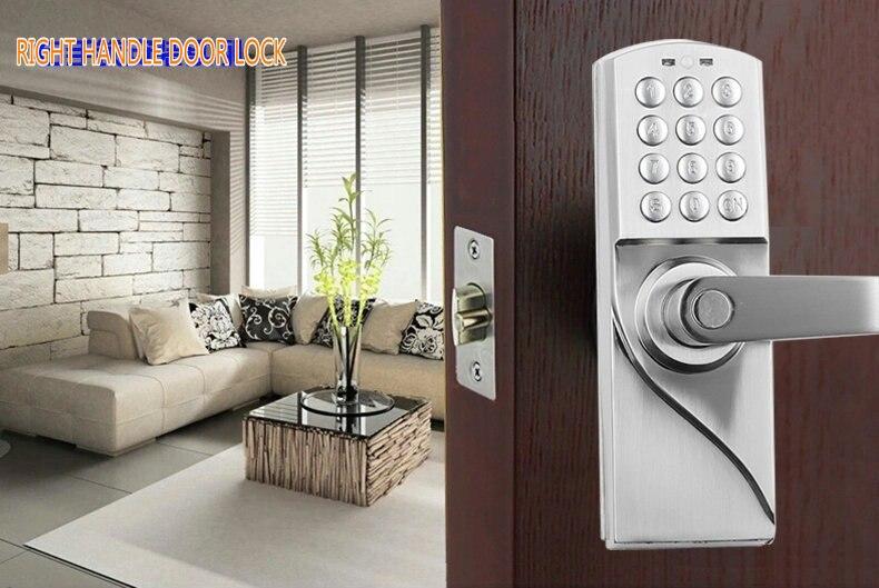 Digital Electronic/Code Keyless Keypad Security Entry Door Lock ...
