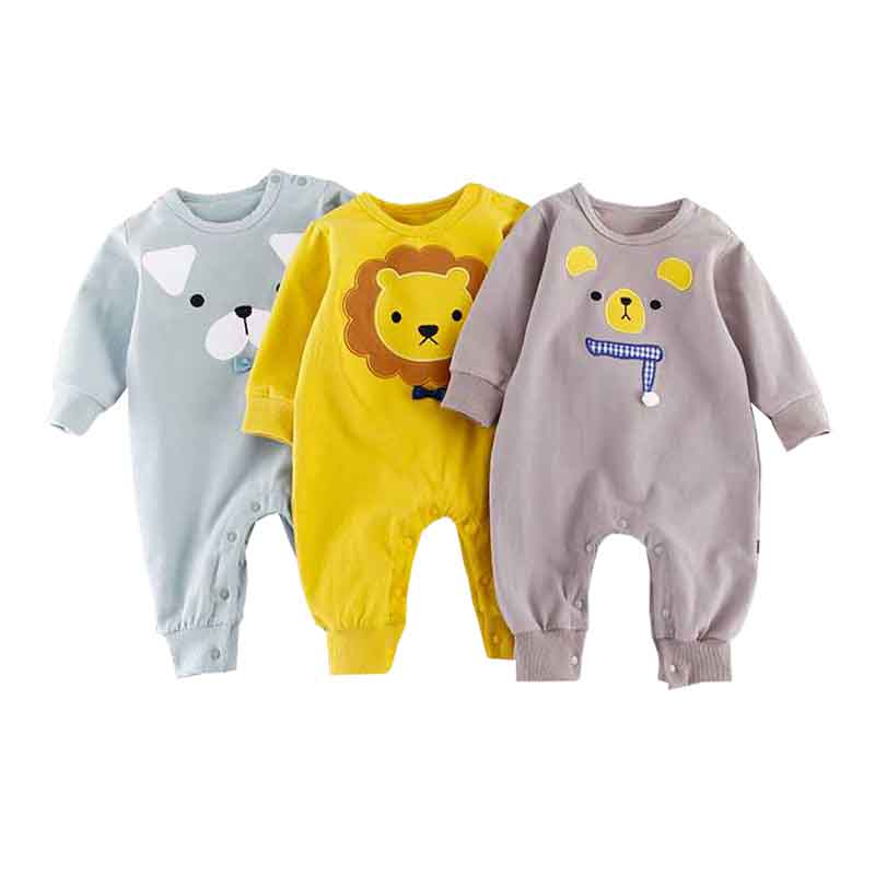 Cute Animal Newborn Baby Rompers Spring Long Sleeve Baby Wear Infant Jumpsuit Boy Girl Winter Clothes Roupas De Bebes Infantil mother nest 3sets lot wholesale autumn toddle girl long sleeve baby clothing one piece boys baby pajamas infant clothes rompers