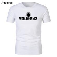 WORLD OF TANKS 2018 Новый горячий Футболка с принтом прохладные падших Модные мужские футболки брендовая одежда harajuku топы, футболки в стиле хип-хоп Crossfi