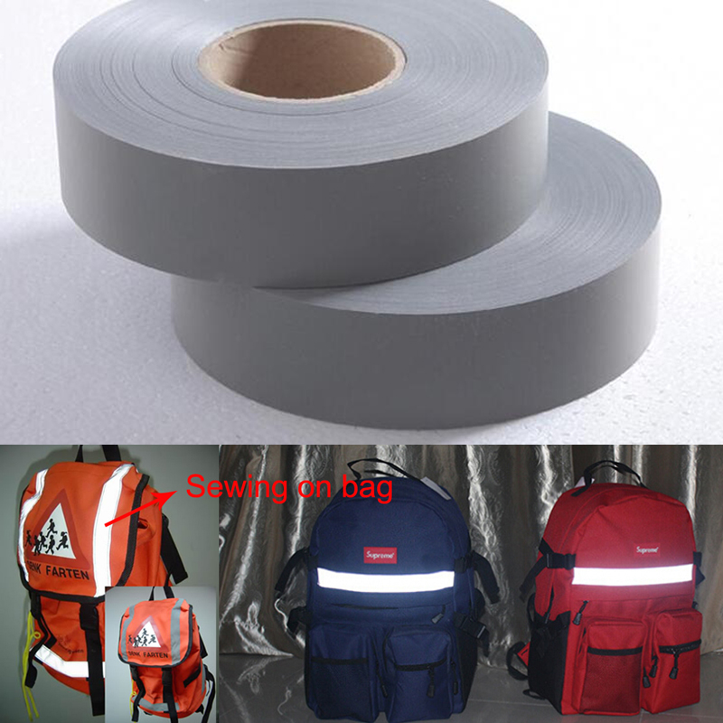 Hot DealsEN471 5cm width Gery Reflective Polyester Fabric for Clothing
