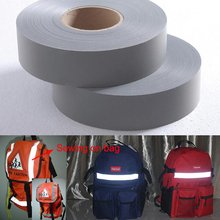 EN471 5cm width Gery Reflective Polyester Fabric for Clothing