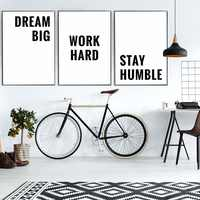 Modern Art Canvas Painting Motivational Quotes Poster Inspirational Words Poster Minimalist Wall Pictures Home Office Decoration