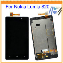 4 3 New for Nokia Lumia 820 LCD Screen Display Touch Screen Digitizer Assembly with Frame