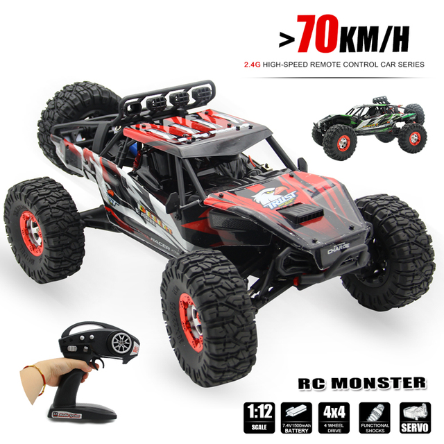 70km H Rc Car Electric 4wd 1 12 Brushless Buggy Truck Master Model Traas