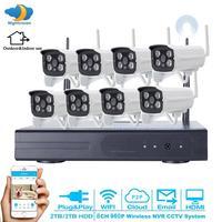 Thuis Plug en Spelen Video Surveillance Systeem 8CH Draadloze NVR HD 960 P Outdoor WIFI Network Security IP Camera Cctv-systeem 3 T HDD
