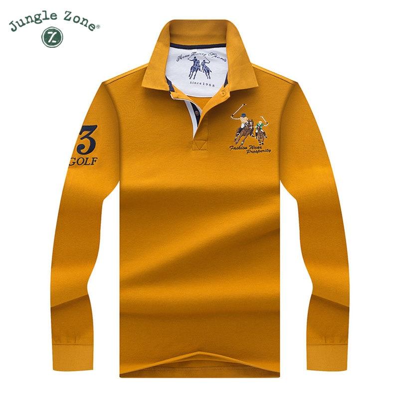 65e47d573408 High Quality Tops&Tees Solid color Men Polo 3D Embroidery Poloshirt Casual  Polo Shirts winter men's Long sleeve polo shirt brand