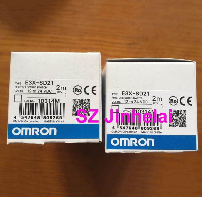Authentic original E3X-SD21 OMRON Photoelectric switch 12-24VDC 2M цена