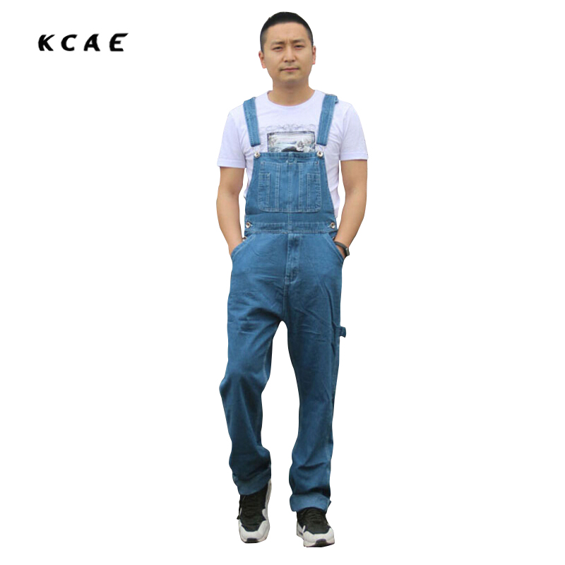 Men's fashion pocket denim overalls men jeans for boys Male casual loose jumpsuits Plus large size jeans brand pants high qualit 2016 new men s casual pocket blue denim overalls slim jumpsuits pants ripped jeans for man plus size 28 34