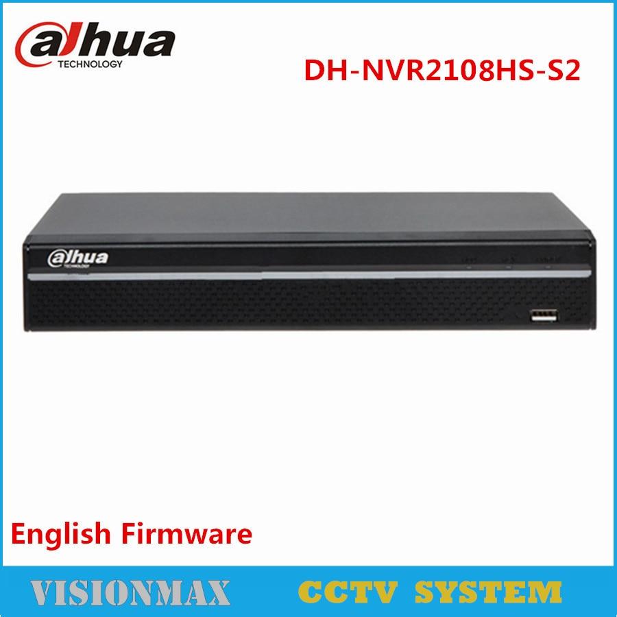 Dahua 8CH NVR NVR2108HS-S2 up to 6Mp Recording Onvif Network video recorder HDMI VGA for HDD English Version Security System доска для объявлений dz 1 2 j8b [6 ] jndx 8 s b