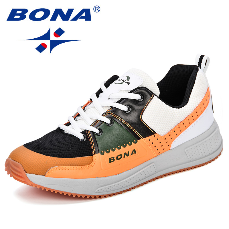 BONA New Classics Style Men Running Shoes Cross Country Sneakers Men Outdoor Breathable Jogging Shoes Trainers Zapatills