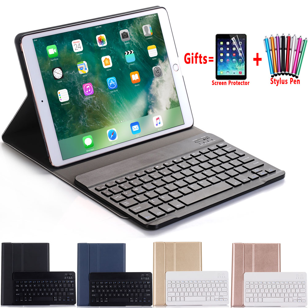 Slim Wireless Removeable Bluetooth Keyboard Shell Case Cover For Apple Ipad Pro 10.5 A1701 A1709 Coque Funda + Pen + Film
