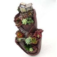 Creative Flower Pot for Mini Succulent Plant Retro Planter Small Bonsai Fairy Garden Home Garden Desktop Decoration
