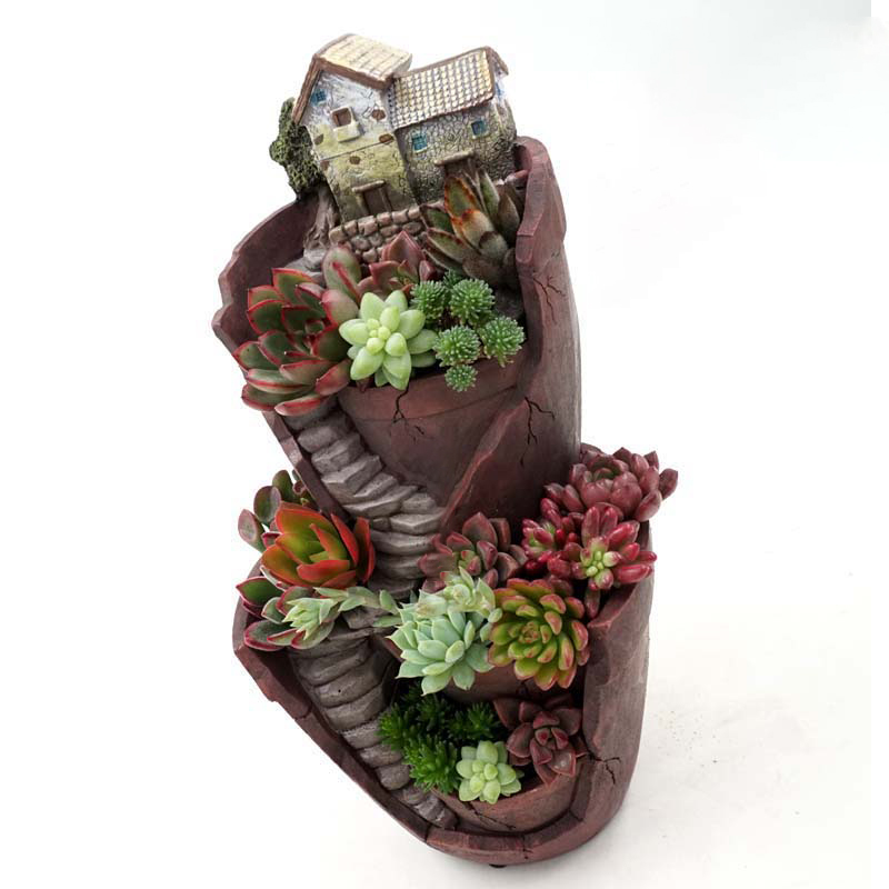 Hot sale resin flower pot succulent plants pot garden Cactus pots for sale