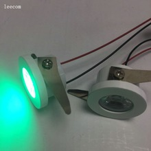 10pcs/lot diameter 30mm Led Cabinet GREEN mini Spot light  1W Include Driver AC85-265V 30mm*30mm Mini downlight