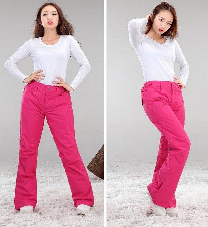 2016 womens dark pink ski pants female skateboarding skiing pants autumn  winter outdoor waterproof padded sports trousers-in Skiing Pants from  Sports ... 652ec341a