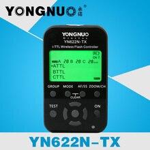 Yn-622n-tx yongnuo i-ttl lcd controlador de flash inalámbrico disparador de flash inalámbrico transceptor para nikon dslr, yn622n-tx flash de la cámara