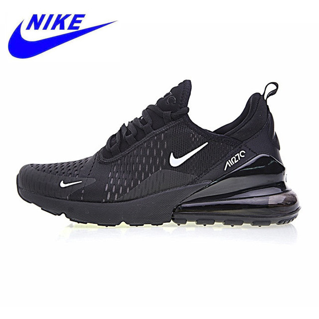 the latest d86de aabff Nike Air Max 270 Men s Running Shoes,Shock-absorbing Non-slip Wearable  Breathable Blue Black,AH8050-009 AH8050-001