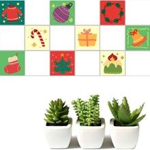 20PCS/SET PVC Christmas DIY Waterproof Self Adhesive European Tile Sticker Vintage Flower Sticker SD008 flower patchwork ceramic tile sticker 5pcs