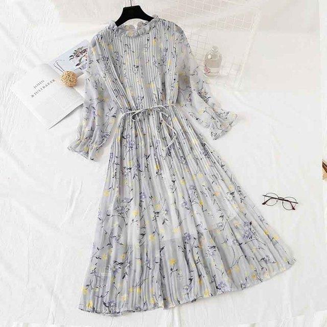 e7fe8cbc23ada Ürün Açıklaması. Bir başlama için, bir 2019 Sonbahar Kış Vintage Şifon  Çiçek Midi Elbise Artı Boyutu Maxi Boho Elbiseler Zarif Kadın Parti uzun  kollu ...