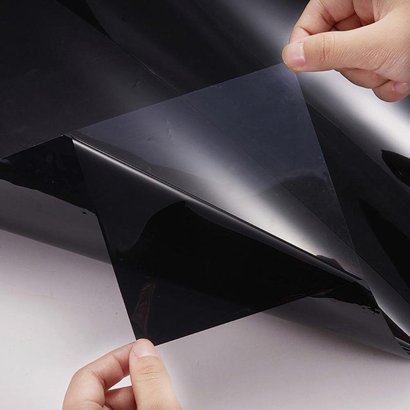 Image 5 - 300x50cm Uncut Dark Smoke Black Car Automobile Window TINT 5% VLT Film  for car side window house commercial solar protection-in Side Window from Automobiles & Motorcycles
