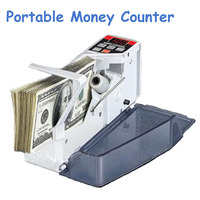 New Mini Money Counter Handy Bill Cash Registers Currency Counting Machine V40