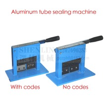 Aluminum tube sealing machine, teeth paste tube sealer, aluminum stamping sealer, with expiration codes, manual sealer