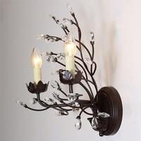 American aisle lights lamps crystal resin wall lamp